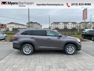 Used 2016 Toyota Highlander LE  -  Bluetooth - $182 B/W for sale in Ottawa, ON