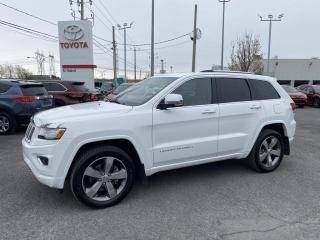 Used 2015 Jeep Grand Cherokee Overland, DIESEL 3.0L ** 7,200 LBS DE REMORGAGE** for sale in St-Hubert, QC