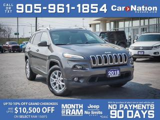 Used 2018 Jeep Cherokee North 4x4| PANO ROOF| LEATHER| NAVI| SAFETY GROUP| for sale in Burlington, ON