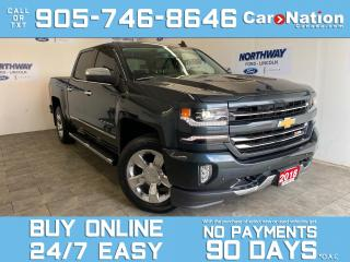 Used 2018 Chevrolet Silverado 1500 LTZ | 4X4 |Z71 PKG |CREW CAB |LEATHER | ROOF | NAV for sale in Brantford, ON