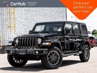 New 2021 Jeep Wrangler Unlimited Sahara 4x4 80th Anniversary Heated Seats Nav & Sound for sale in Thornhill, ON