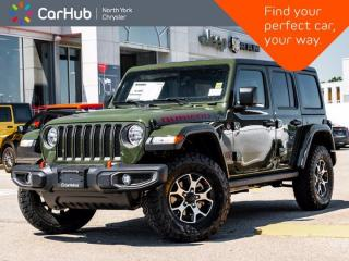 New 2021 Jeep Wrangler Unlimited Rubicon 4x4 Nav & Sound Grp Safety Grp Hardtop Proximity Key for sale in Thornhill, ON