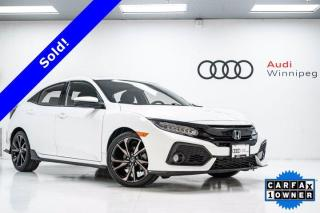 Used 2018 Honda Civic Hatchback Sport Touring w/Leather & Sunroof *Local Trade* for sale in Winnipeg, MB