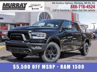New 2021 RAM 1500 Rebel 4x4 Crew Cab 5'7  Box for sale in Winnipeg, MB