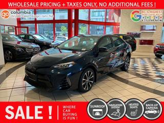 Used 2018 Toyota Corolla XSE - No Accident / No Dealer Fees / Nav / Sunroof for sale in Richmond, BC