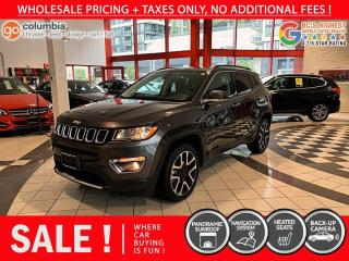 Used 2020 Jeep Compass Limited - Accident Free / No Dealer Fees / Pano Sunroof / Nav for sale in Richmond, BC