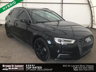 Used 2018 Audi A3 e-tron 1.4T Technik HYBRID, SUNROOF, NAVIGATION, 360 VIEW CAMERA, REVERSE CAMERA for sale in Ottawa, ON