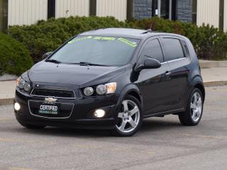 Used 2013 Chevrolet Sonic LTZ,LEATHER,TOP OF LINE,NO-ACCIDENT,CERTIFIED,1.4T for sale in Mississauga, ON