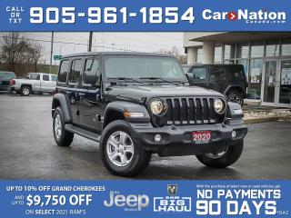 Used 2020 Jeep Wrangler Unlimited Sport S 4x4| COMPANY DEMO| CONVENIENCE GROUP| for sale in Burlington, ON