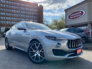 Used 2017 Maserati Levante CLEAN CARFAX I S PKG I AWD I NAVI I CAM I PANO ROOF I for sale in Scarborough, ON