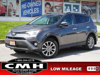 Used 2018 Toyota RAV4 AWD Limited  NAV CAM ROOF LEATH P/GATE 18-AL for sale in St. Catharines, ON