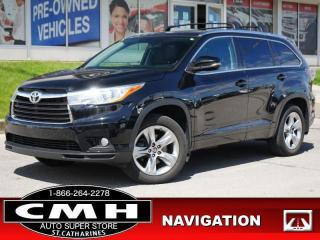 Used 2016 Toyota Highlander Limited  NAV ROOF LEATH HTD-S/W 7-PASS for sale in St. Catharines, ON