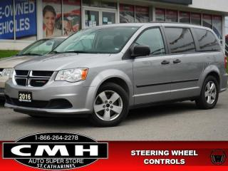 Used 2016 Dodge Grand Caravan SXT  S/W-AUDIO PWR-GROUP A/C 17-AL for sale in St. Catharines, ON