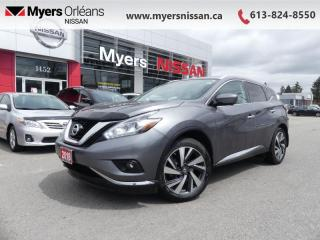 Used 2018 Nissan Murano AWD Platinum  - Sunroof -  Navigation - $213 B/W for sale in Orleans, ON