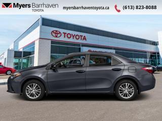 Used 2016 Toyota Corolla LE  -  Heated Seats -  Bluetooth - $101 B/W for sale in Ottawa, ON