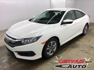 Used 2017 Honda Civic LX BLUETOOTH CAMÉRA SIÈGES CHAUFFANTS *Transmission Automatique* for sale in Shawinigan, QC