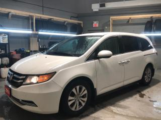 Used 2014 Honda Odyssey 8 Passenger * Over Head DVD Player * Heated Cloth Seats * OEM Honda Rubber Floor Mats * Power Sliding Passenger Doors * 17 Alloy Rims * Rear Wiper * for sale in Cambridge, ON