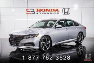Used 2018 Honda Accord SPORT + AUTO + CUIR + TOIT + MAGS + WOW! for sale in St-Basile-le-Grand, QC