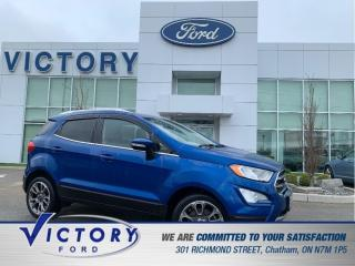 Used 2018 Ford EcoSport Titanium | LEATHER | SUNROOF | NAV | PUSH BUTTON S for sale in Chatham, ON