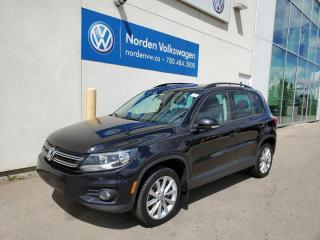 Used 2015 Volkswagen Tiguan COMFORTLINE 4MOTION - LEATHER / SUNROOF / HTD SEATS for sale in Edmonton, AB