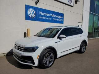Used 2018 Volkswagen Tiguan HIGHLINE R-LINE W/ TECH PKG + 3RD ROW - VW CERTIFIED! for sale in Edmonton, AB