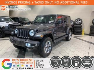 New 2021 Jeep Wrangler Unlimited Sahara Diesel for sale in Richmond, BC