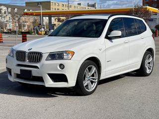 Used 2013 BMW X3 35i M Sport Navigation /Pano Roof/Camera for sale in North York, ON