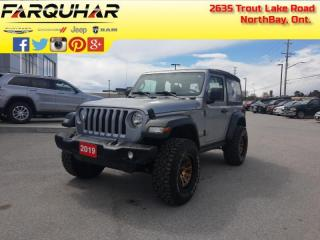 Used 2019 Jeep Wrangler Sport -  Uconnect - $226 B/W for sale in North Bay, ON