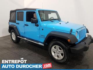 Used 2018 Jeep Wrangler JK Unlimited Sport - AWD - Toit Souple - Climatiseur for sale in Laval, QC