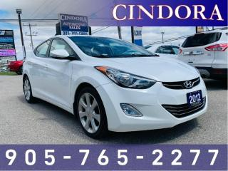 Used 2012 Hyundai Elantra Limited, Leather Heated Front & Rear Seats , Roof for sale in Caledonia, ON