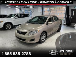 Used 2010 Toyota Corolla CE + GARANTIE + A/C + MAGS + CRUISE + WO for sale in Drummondville, QC