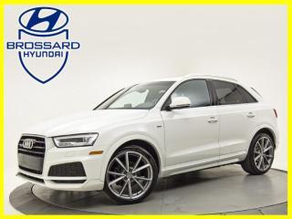 Used 2018 Audi Q3 S LINE BAS KILOMÉTRAGE ROUES 20 POUCES for sale in Brossard, QC