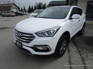 Used 2017 Hyundai Santa Fe ALL-WHEEL DRIVE SPORT-MODEL 5 PASSENGER 2.4L - DOHC.. DRIVE-MODE-SELECT.. LEATHER.. HEATED SEATS & WHEEL.. BACK-UP CAMERA.. POWER SUNROOF.. for sale in Bradford, ON