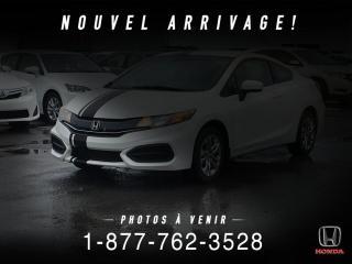 Used 2014 Honda Civic LX + AUTO + A/C + CRUISE + CAMERA + WOW! for sale in St-Basile-le-Grand, QC