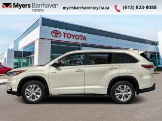 Used 2016 Toyota Highlander HYBRID LIMITED  - Navigation - $250 B/W for sale in Ottawa, ON