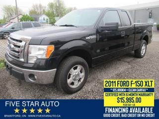 Used 2011 Ford F-150 XLT *No Accidents* Certified w/ 6 Month Warranty for sale in Brantford, ON