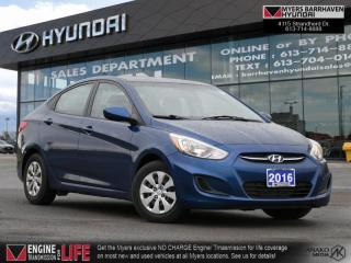 Used 2016 Hyundai Accent GL  - Bluetooth -  Heated Seats - $95 B/W for sale in Nepean, ON