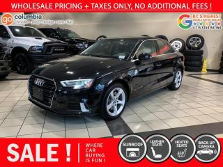 Used 2019 Audi A3 Sedan Komfort - Accident Free / No Dealer Fees / Sunroof / Leather for sale in Richmond, BC