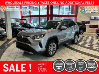 Used 2020 Toyota RAV4 Limited - Accident Free / One Owner / Nav / Sunroof for sale in Richmond, BC