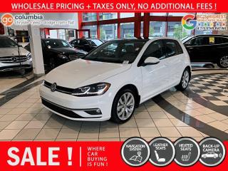 Used 2019 Volkswagen Golf Execline - No Accident / One Owner / No Dealer fees / Nav for sale in Richmond, BC