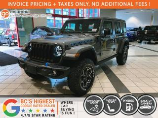 New 2021 Jeep Wrangler 4xe Unlimited Rubicon 4xe for sale in Richmond, BC