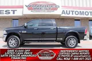 Used 2018 RAM 2500 LIMITED EDITION 6.7L CUMMINS 4X4 RAM BOX, SHARP!! for sale in Headingley, MB