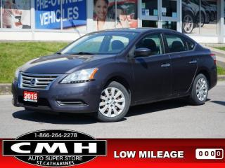 Used 2015 Nissan Sentra S  BLUETOOTH S/W-AUDIO A/C AUTO for sale in St. Catharines, ON