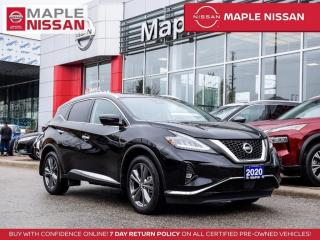 Used 2020 Nissan Murano Plat AWD Navi Apple Carplay Pano Moon Blind Spot for sale in Maple, ON
