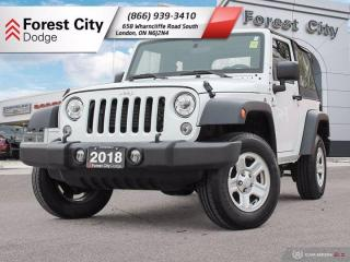 Used 2018 Jeep Wrangler JK Sport for sale in London, ON