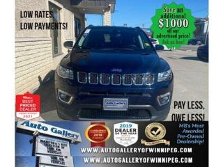 Used 2019 Jeep Compass Limited* 4x4/Satellite Radio/Reverse Camera/NAVI for sale in Winnipeg, MB