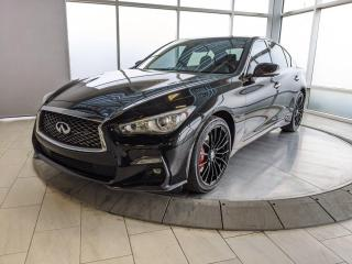 Used 2019 Infiniti Q50 Red Sport 400 for sale in Edmonton, AB