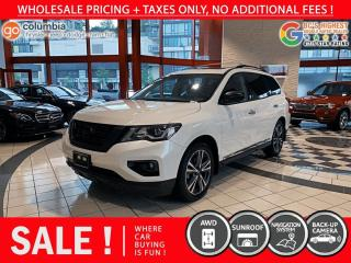 Used 2018 Nissan Pathfinder Platinum - One Owner / Local / DvD / Nav / 7 Passenger for sale in Richmond, BC