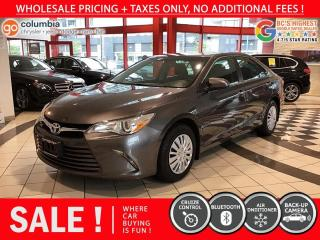 Used 2017 Toyota Camry LE - Local / No Dealer Fees for sale in Richmond, BC