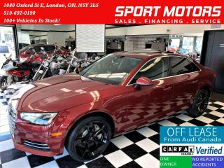 Used 2017 Audi A4 Quattro AWD+New Tires+Sensors+Roof+CLEAN CARFAX for sale in London, ON